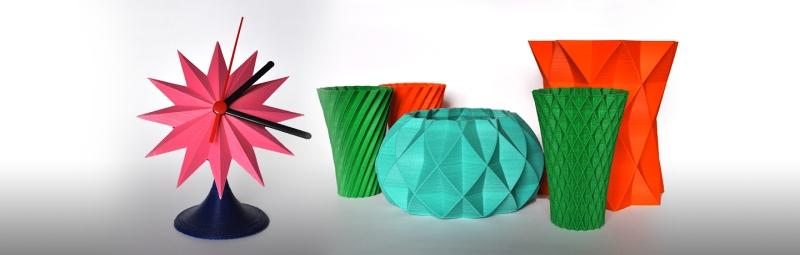Peças de decoração impressas em 3D